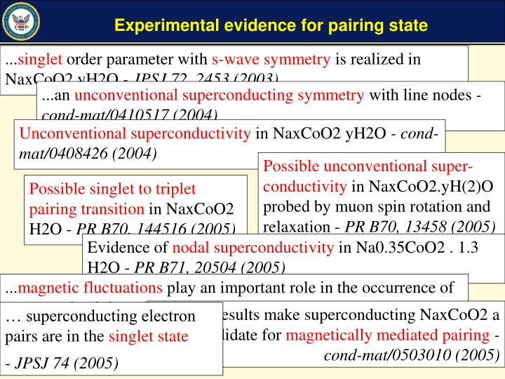 Experimental evidence for pairing state