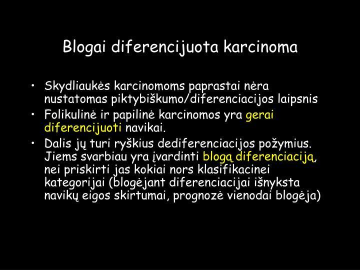 Blogai diferencijuota karcinoma