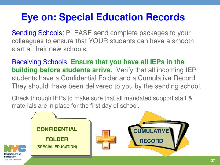 Eye on: Special Education Records