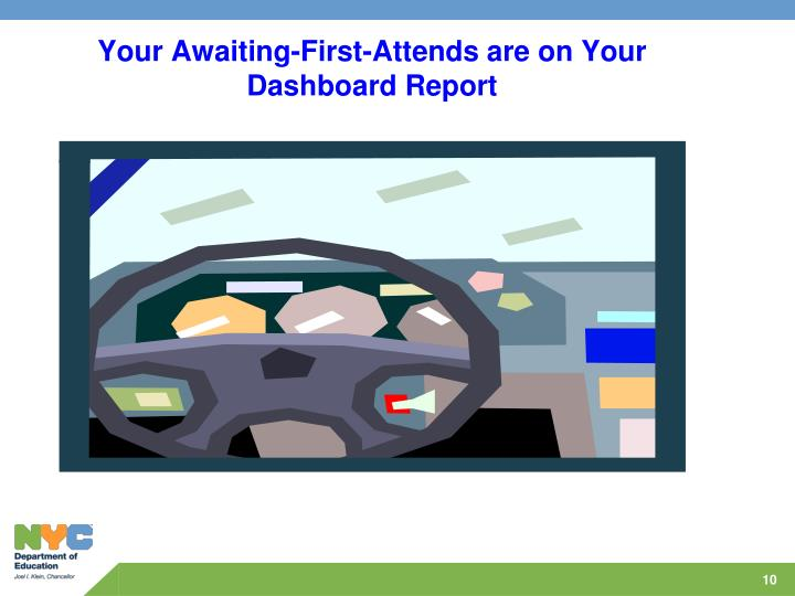 Your Awaiting-First-Attends are on Your Dashboard Report