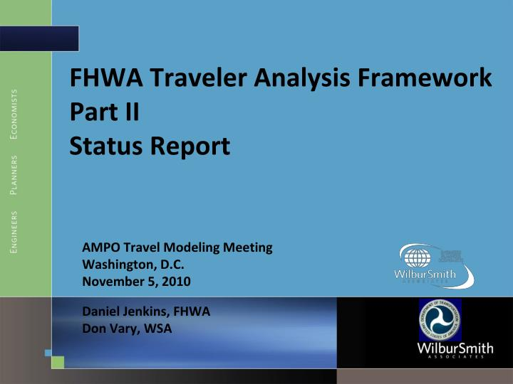 an analysis of traveler Data, analysis methods readers should note that equations using travel time refer to the analysis section travel times as described above several other aspects and definitions used in preparing the archived data for analysis were.