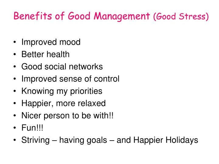 Benefits of Good Management