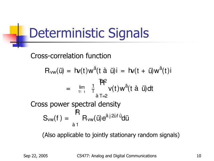 Deterministic Signals