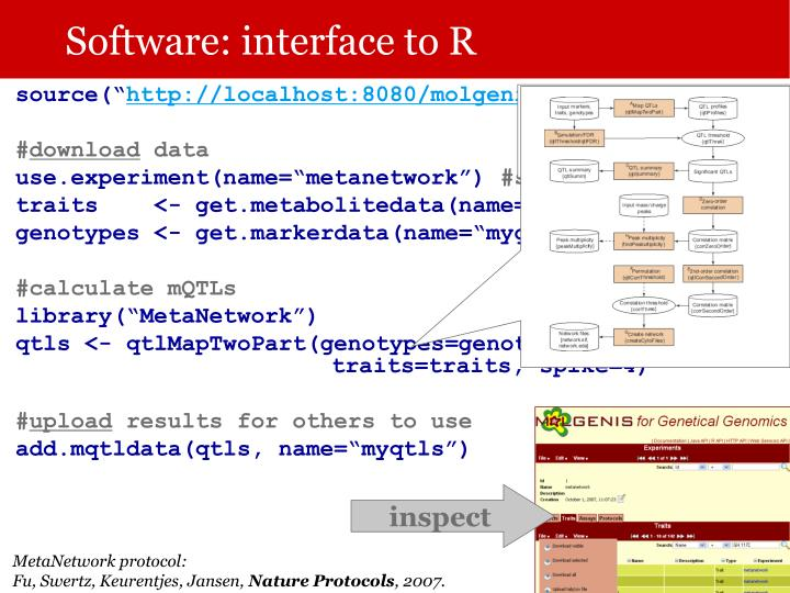 Software: interface to R