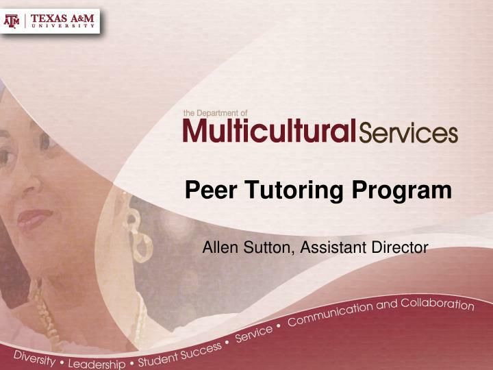 peer tutoring program essay Application requirements incoming nse students outgoing nse students   the center for academic excellence (cae) offers a free peer tutoring program for .