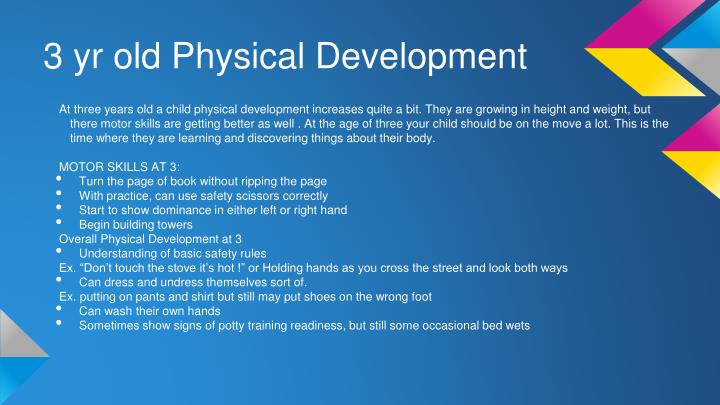 3 yr old Physical Development
