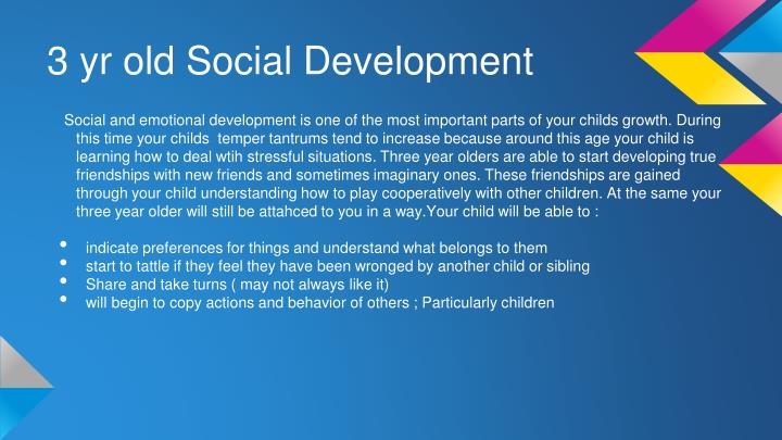 3 yr old Social Development