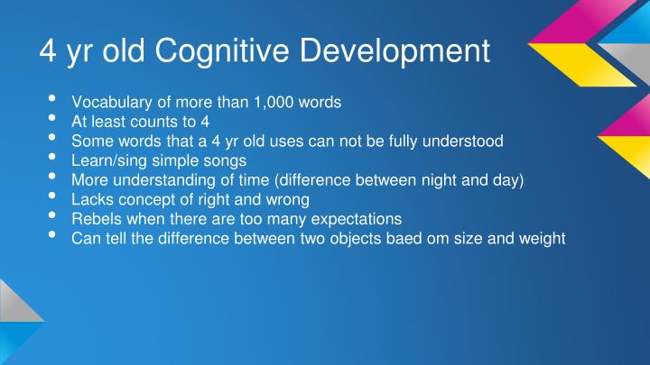 4 yr old Cognitive Development