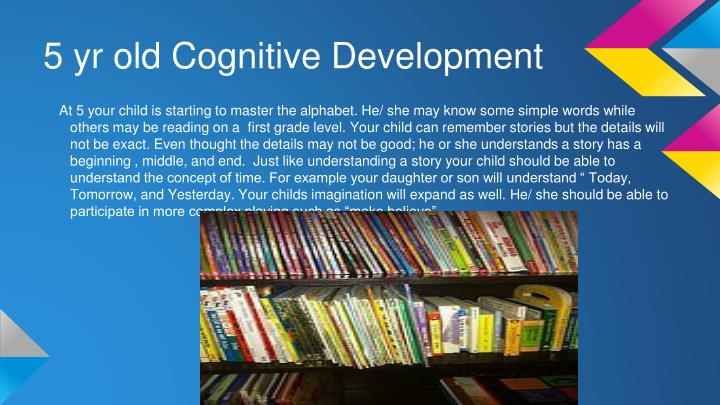 5 yr old Cognitive Development