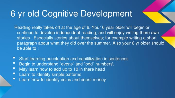 6 yr old Cognitive Development