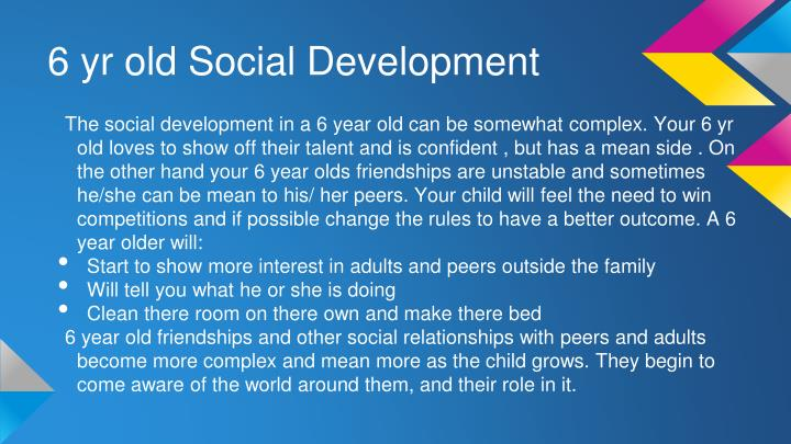 6 yr old Social Development