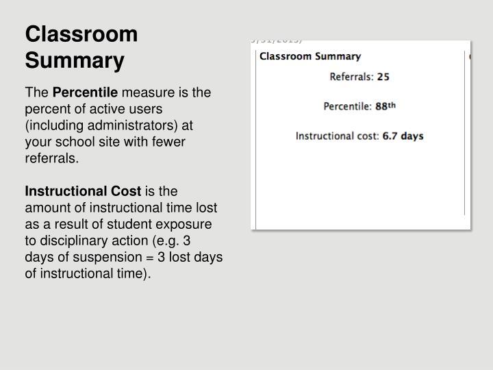 Classroom Summary