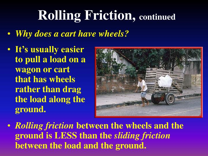 Rolling Friction,