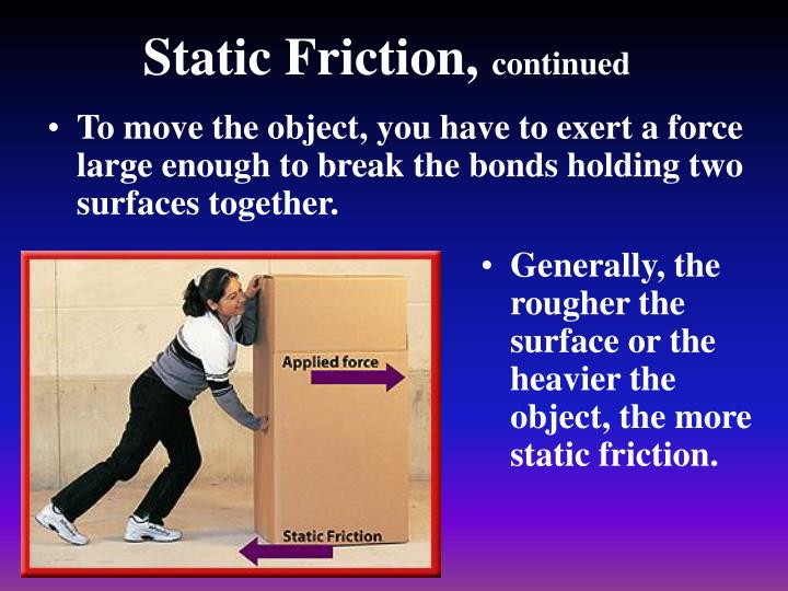 Static Friction,