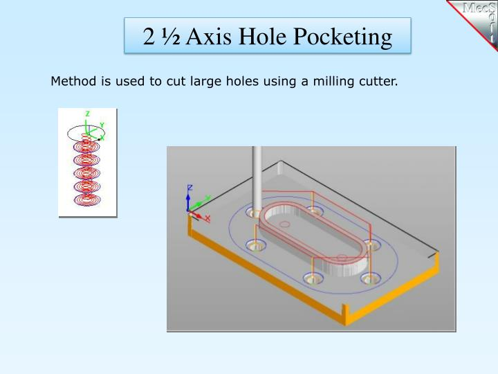 2 ½ Axis Hole Pocketing