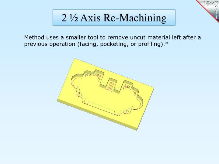 2 ½ Axis Re-Machining