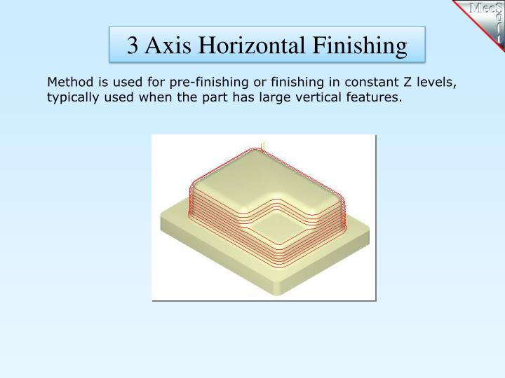 3 Axis Horizontal Finishing