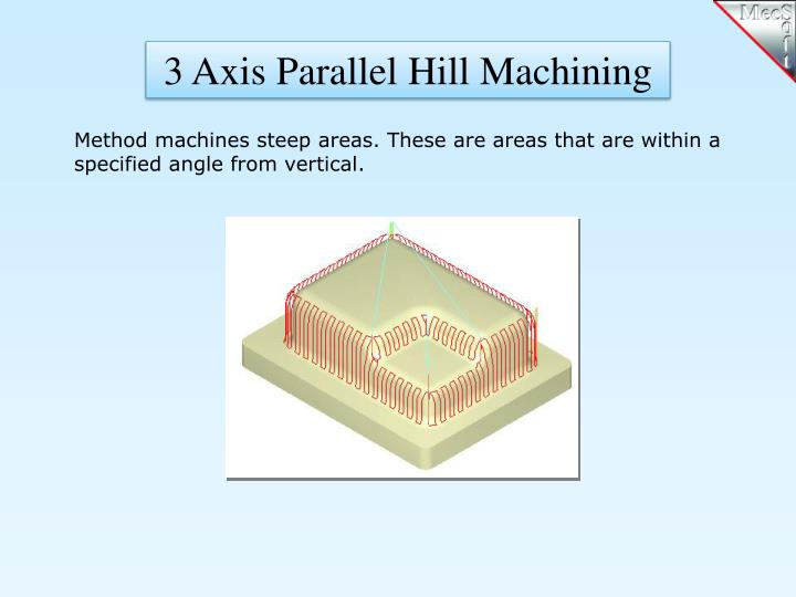 3 Axis Parallel Hill Machining