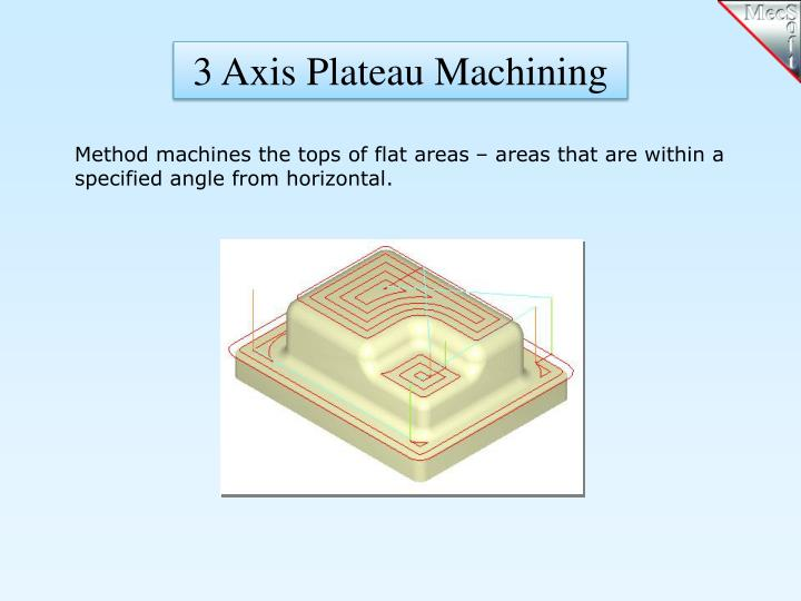 3 Axis Plateau Machining