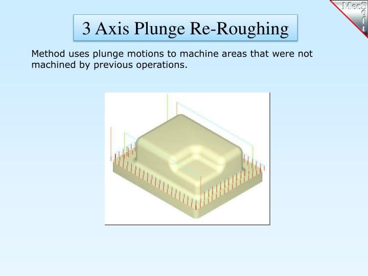3 Axis Plunge Re-Roughing