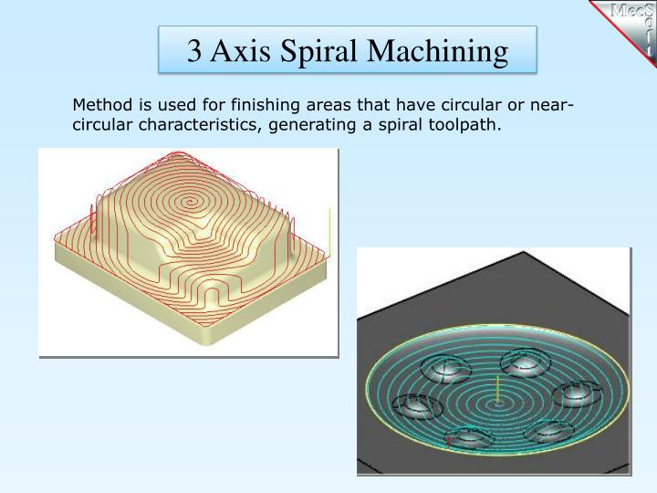 3 Axis Spiral Machining