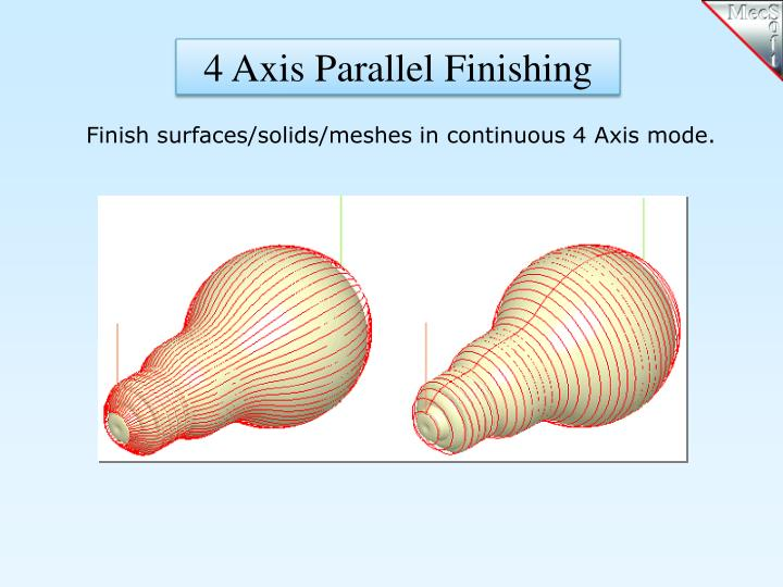 4 Axis Parallel Finishing