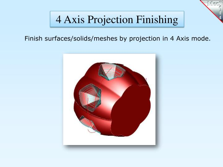 4 Axis Projection Finishing