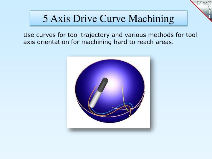 5 Axis Drive Curve Machining