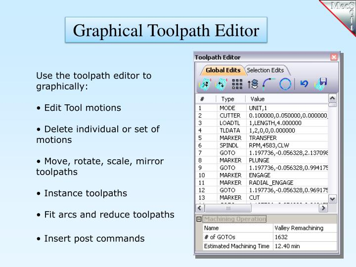 Graphical Toolpath Editor