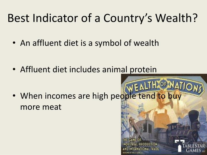 Best Indicator of a Country's Wealth?