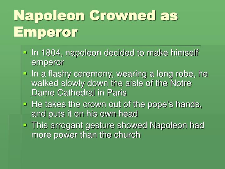 Napoleon Crowned as Emperor
