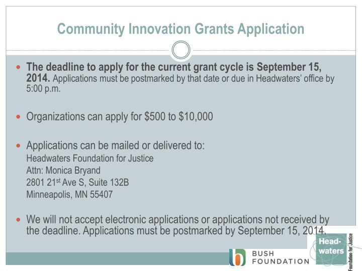 Community Innovation