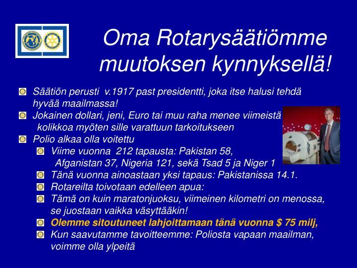 Oma Rotarysäätiömme