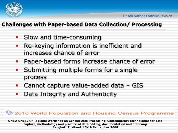Challenges with Paper-based Data Collection/ Processing