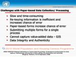 challenges with paper based data collection processing