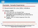example canada experience