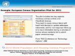 example european census organization pilot for 2011