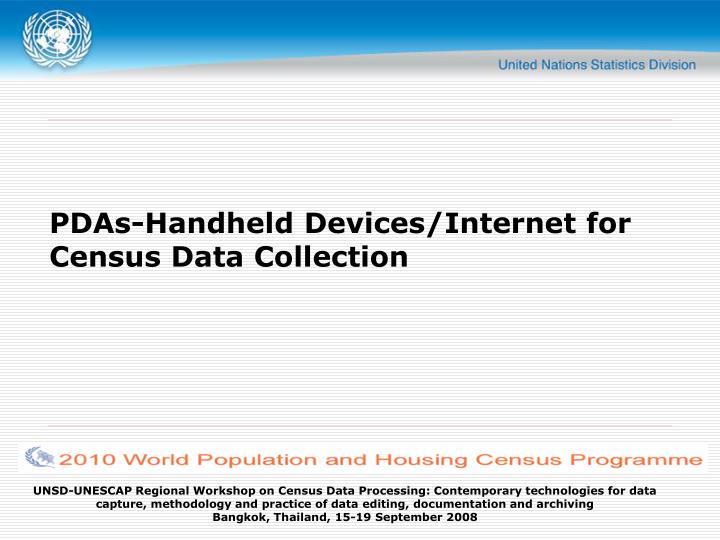 Pdas handheld devices internet for census data collection