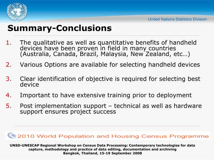 Summary-Conclusions