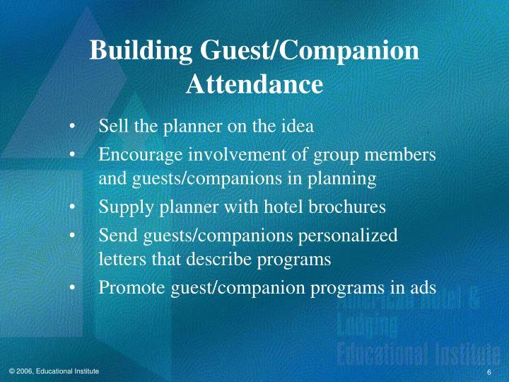 Building Guest/Companion Attendance