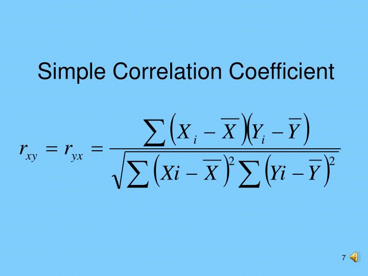 Simple Correlation Coefficient