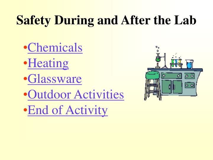 Safety During and After the Lab