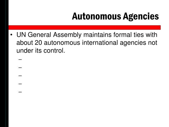 Autonomous Agencies