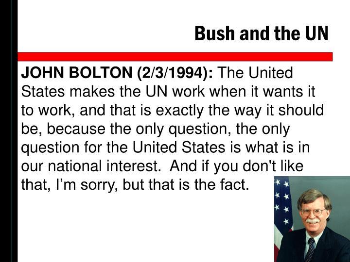 Bush and the UN