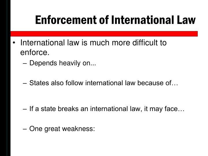 Enforcement of International Law