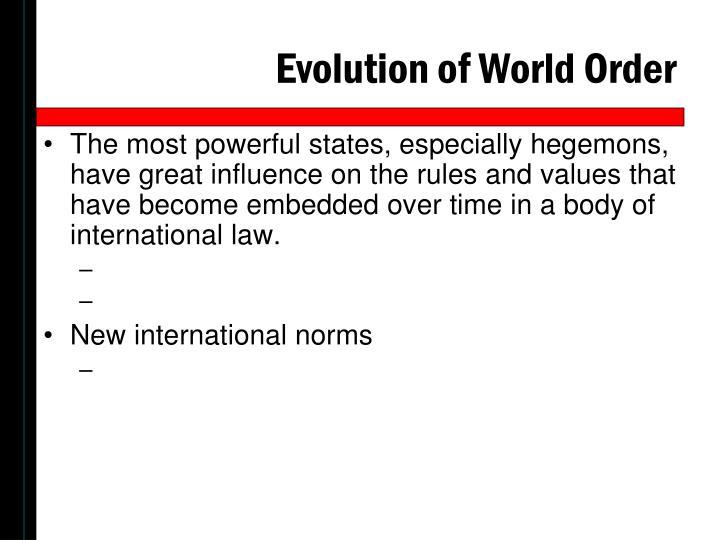 Evolution of World Order
