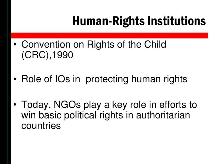 Human-Rights Institutions