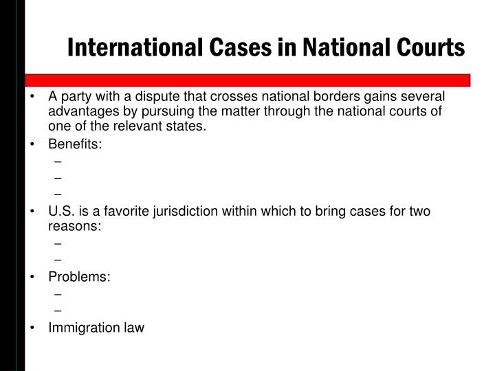 International Cases in National Courts