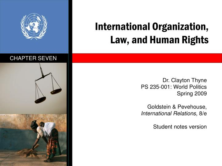 International organization law and human rights