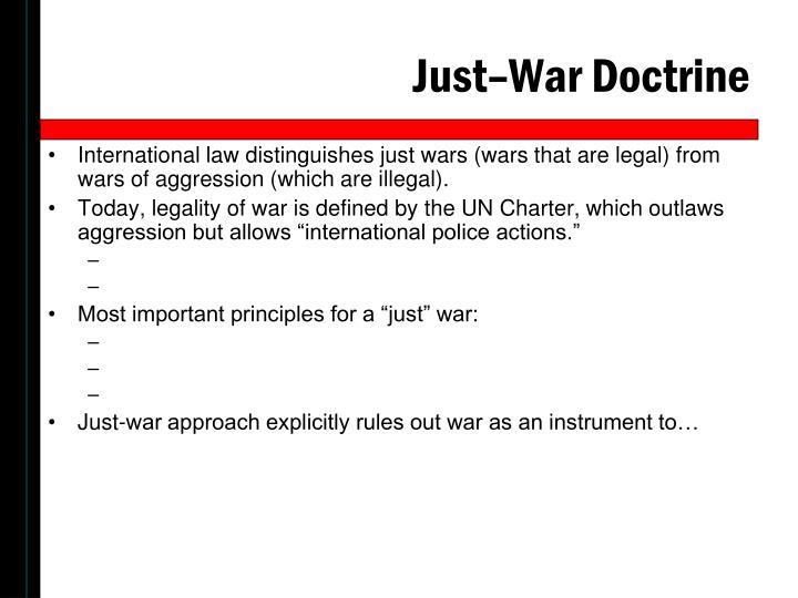Just–War Doctrine